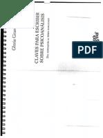 Claves Para Escribir Sobre Psicoanálisis de Gloria Gitaroff