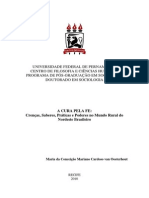 Tese de Sociologia Sobre Rituais de Cura.