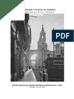 Memoria Descriptiva Calle Mercaderes-Arequipa-peru