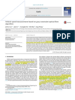 Vehicle Speed Measurement Based on Gray Constraint Optical Flow Algorithm (j.ijleo.2013.06.036)