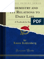 Chemistry and Its Relations to Daily Life