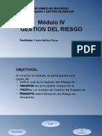 Diplomado Gestión Del Riesgo Módulo IV