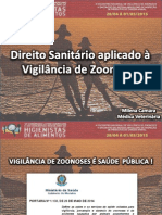 Direito Sanitario Aplicado à Vigilância de Zoonoses