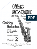 Golden Melodies - Popular Music for Alto Saxophone and Piano - Vol.2