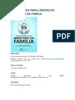 Capacitação Para Líderes Do Ministério Da Família