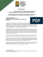 CARTA PÚBLICA RNDDHM urge protección para defensora Martha Solorzano