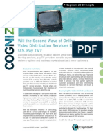 Will the Second Wave of Online Video Distribution Services Drown Out U.S. Pay TV?