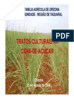 Tratos Culturais na Cana-De-Açúcar