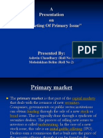 "Presentationon""Marketing Of Primary Issue"""