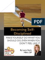 Becoming Self Disciplined