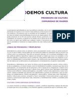 Programa de Cultura de Podemos para la Comunidad de Madrid