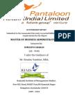 A REPORT ON BIG BAZAAR - PANTALOON RETAIL (INDIA) LTD.