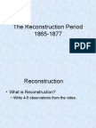 the reconstruction period ppt
