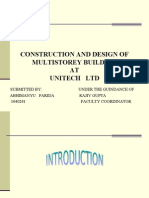 Construction and Design of Multistorey Building At
