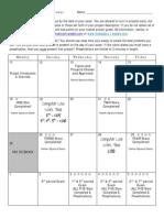 final project calendar