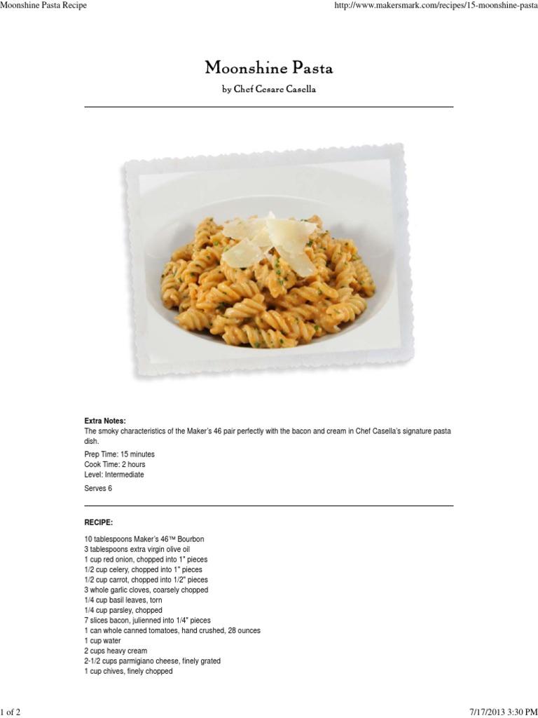 Moonshine pasta recipe pasta garlic forumfinder Image collections