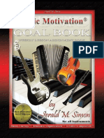 Music Motivation Goal Book