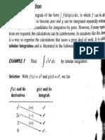 Tabular Integration by Parts
