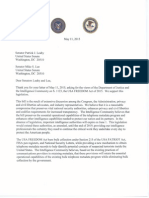 Letter to Senators Leahy and Lee Supporting USA Freedom Act
