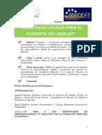 Folleto Jornadas Iniciativas Locales Para El Fomento Del Empleo