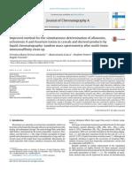 Lattanzio, Improved Method for Determination of Multi Mycotoxins, 2014