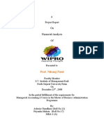 Financial Analysis of  Wipro LTD