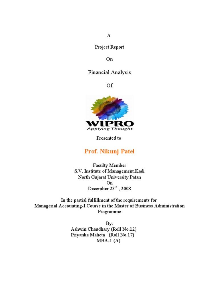wipro financial statements
