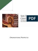 San Damiano Center Organizational Prospectus