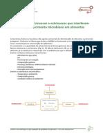 Fatores Intrínsecos e Extrínsecos Que Interferem No Crescimento Microbiano Em Alimentos