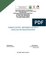 Formulaciòn y Reformulación- Analisis de Desconocidos Etc