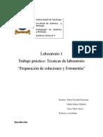 Informe Lab.1 Qca Gral II