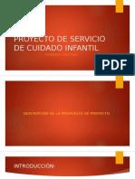 Presentación de guardería chiquitines formulación de proyectos