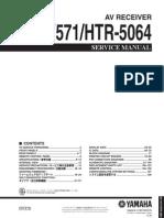 Yamaha RX-V571 Htr 5064