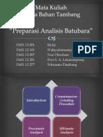 Preparasi Analisis Batubara (Uji Proksimat&Ultimat)