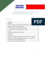 Informe del INS sobre el uso del glifosato