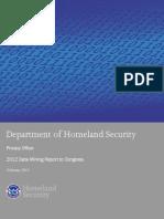 2012 Data Mining Report to Congress