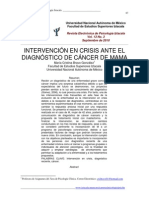 Intervencion en Crisis en Cancer de Mama