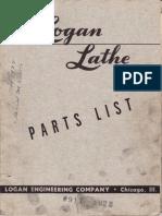 Logan Lathe - Parts Catalog - 6507