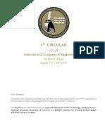 1nd Circular - ICE XI - Florence 2015