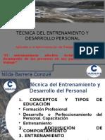 Técnica Del Entrenamiento y Desarrollo Personal