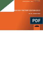 2013 450 SXF FactoryEdition Engine