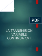 La Transmisión Variable Continua Cvt