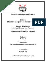 La Eficiencia Energética en Mexico (Ensayo)