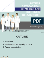 Patient Satisfaction, Loyalitas and Customer 2015