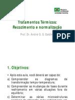 MCM I - Aula 05 - Tratamentos Térmicos (Recozimento e Normalização)