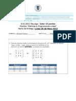 Matrices & Programación Lineal