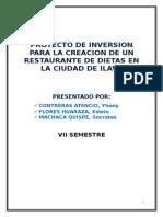 1 Proyecto de Inversion Restaurant de Dietas Imprimir Yhonyz
