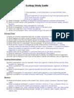 ecology study guide 13-key