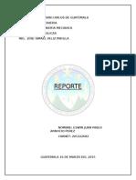 Reportes Maquinas
