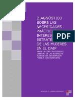 Diagnóstico sobre las necesidades prácticas e intereses estratégicos de las mujeres en el DAIP